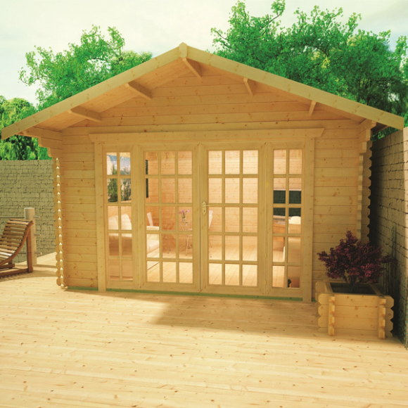 1clicklogcabins-ashford-28mm-log-cabin
