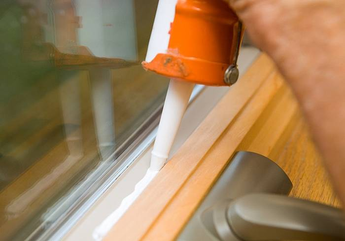 Sealing Window with Sealant
