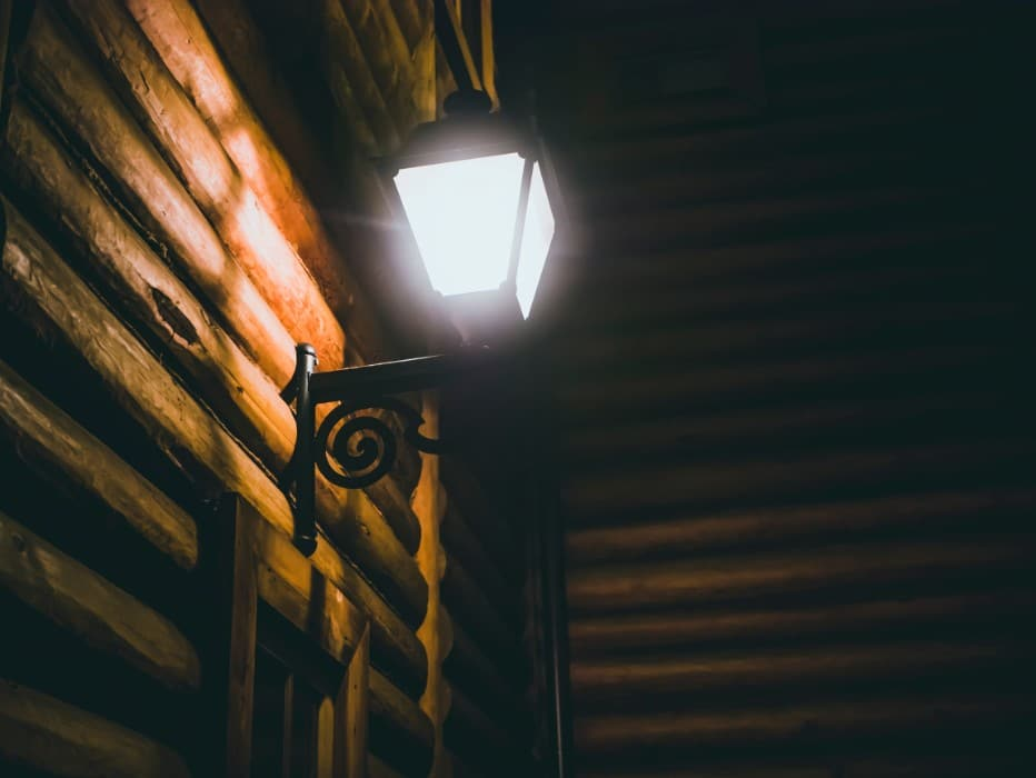Outdoor Lighting for Log Cabin