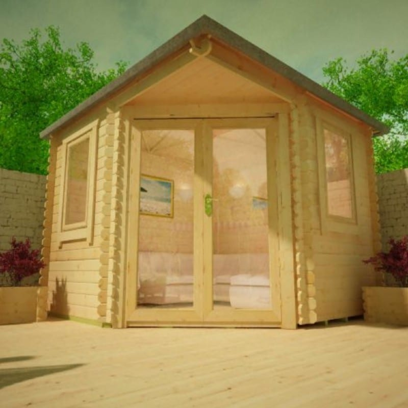 Bradwell Corner 28mm Log Cabin